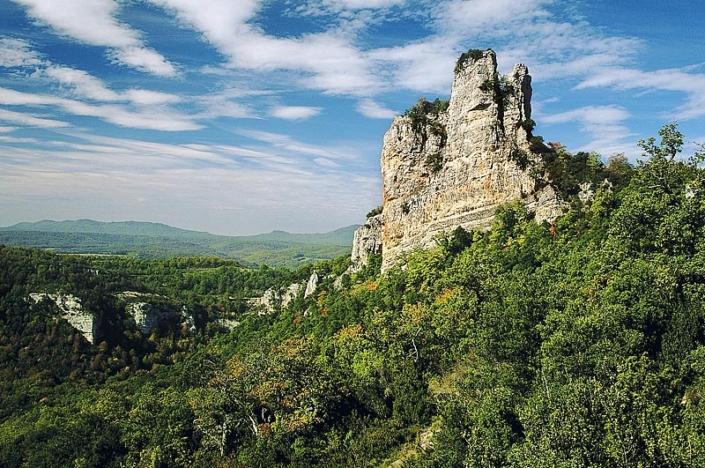 Parque natural Izki. Peña del Castillo. DFA