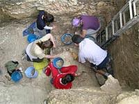 La excavación Arqueológica en el yacimiento Prehistórico de Atxoste.