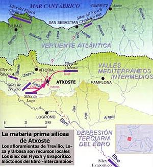 El aprovisionamiento del sílex en el yacimiento Prehistórico de Atxoste.